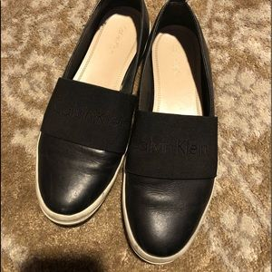 Calvin Klein leather flats
